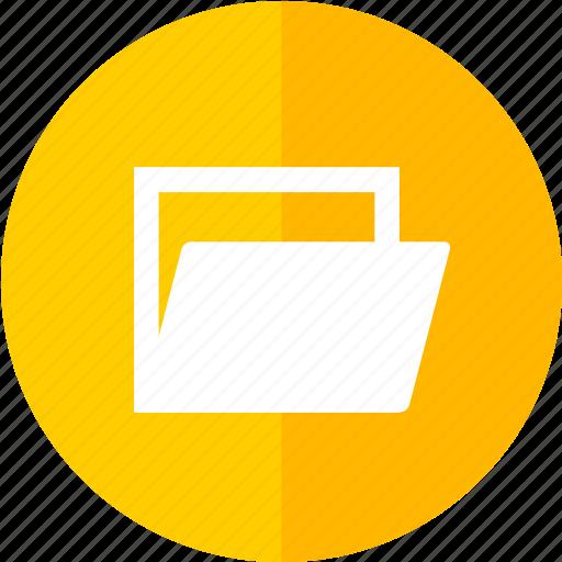 control, data, file, media, multimedia, open, yellow icon