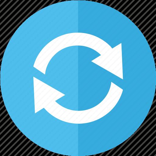 again, back, blue, control, multimedia, playback, refresh icon