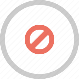 block, cancel, do not, error, invalid icon