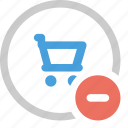 cart, minus, online cart, remove, remove from cart icon
