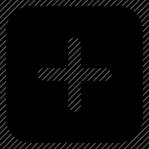 add, square icon