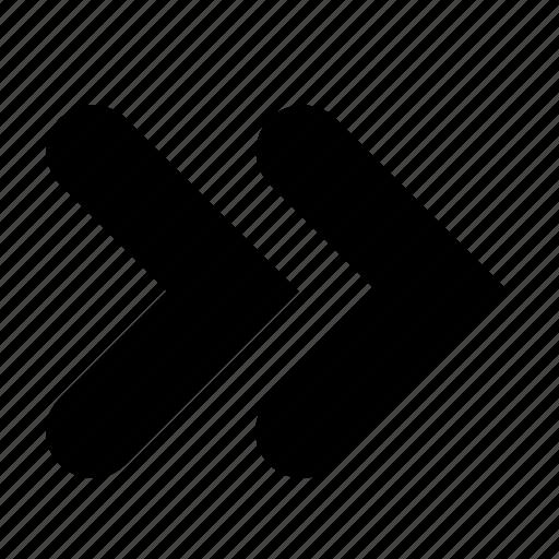 caret, double, right icon