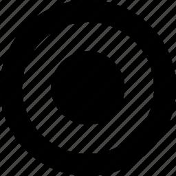 active, button, radio icon