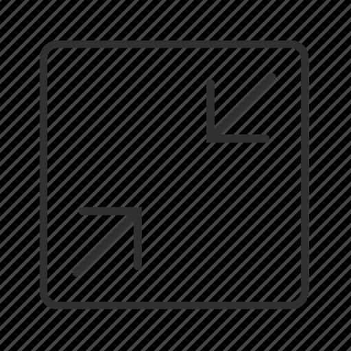 hide page, min, minimize, minimize button, minimize icon, minimize page, shrink page icon
