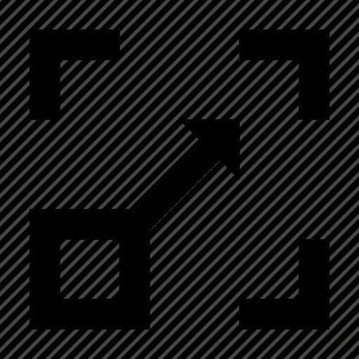 resize application, resize arrow, resize page, resize square, resize window icon