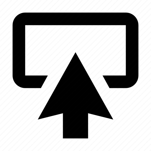 arrow, arrow up, box, pointing arrow, upward icon