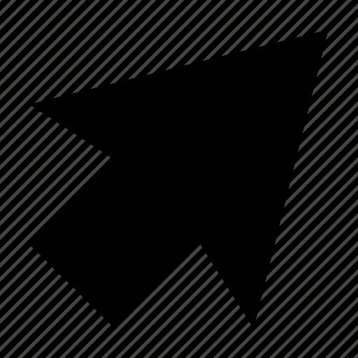 arrow, arrow hint, arrow indication, cursor, up right icon