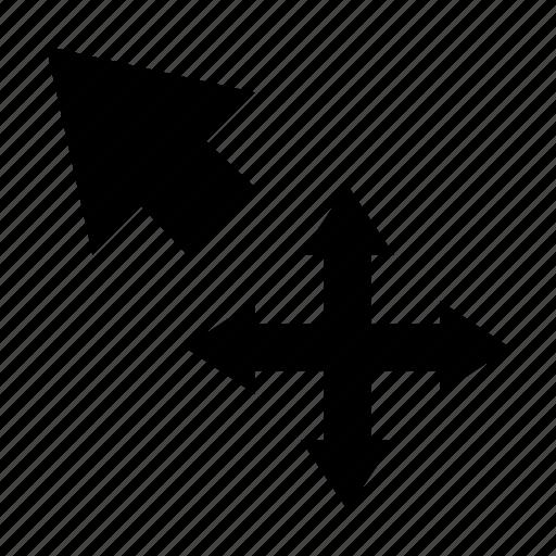 arrow, cursor, drag, drop, move selection icon