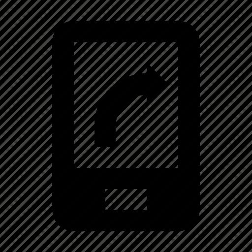 arrow sign, mobile screen, mobile ui, modern ui, navigation arrow icon