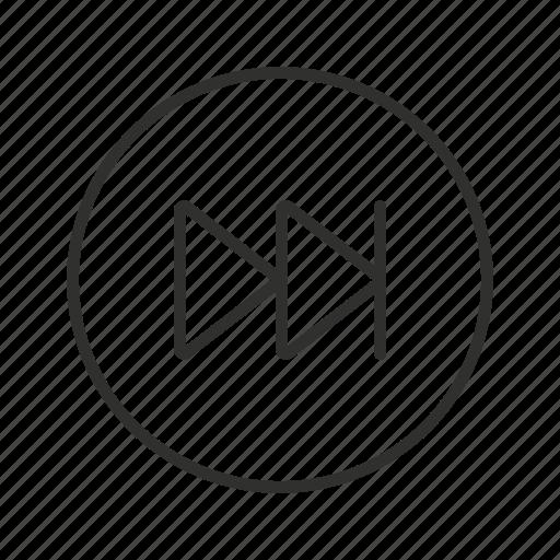 fast, fast forward, fast forward button, forward, next, next button, rewind icon