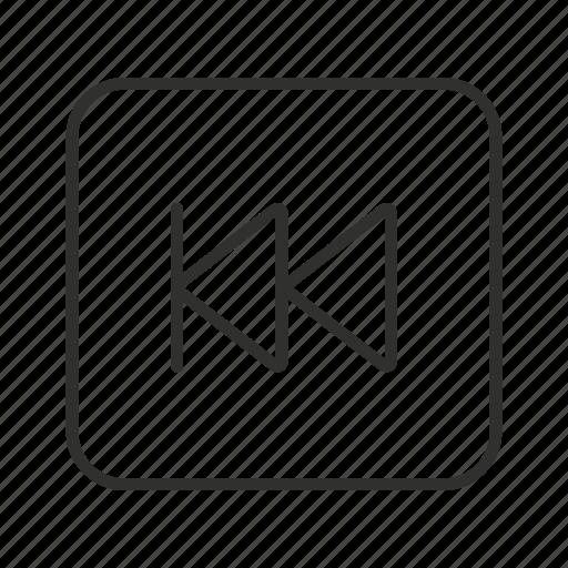 re wind, remote, remote button, rewind, rewind button, rewind icon, rewind logo icon