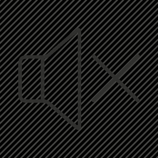 mute, mute icon, mute logo, no music, no sound, silence, sound off icon