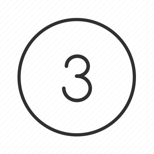 billards, lottery, number 3, number three, three, three ball, three icon icon