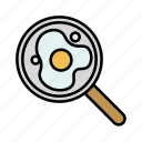 cooking, egg, food, fried, kitchen, pan, restaurant icon