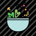 fresh, salad, vegetables, cooking, food, fruit, healthy