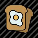 bread, breakfast, egg, toast, food, kitchen, sweet