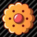 biscuit, bread, cartoon, cheesecake, flower, logo, object