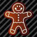 bread, cake, cartoon, gingerbread, logo, man, object