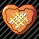 bagel, cartoon, cheesecake, cookie, heart, logo, object