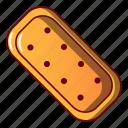 bread, cartoon, cheesecake, cookie, logo, object, single