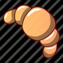 cartoon, cheesecake, cookie, croissant, logo, object, single