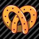 cartoon, cheesecake, cookie, logo, object, pretzel, single