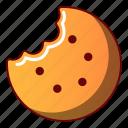 biscuit, bitten, bread, cartoon, cheesecake, logo, object