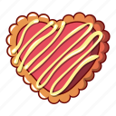 biscuit, bread, cartoon, cheesecake, logo, object, striped