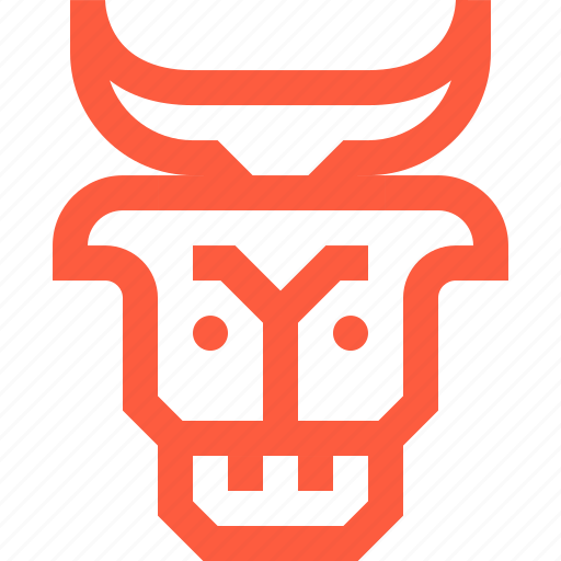 beef, cow, food, head, meat, meatery, veal icon