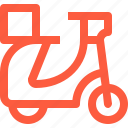 delivery, fast, food, scooter, transportation, vehicle icon