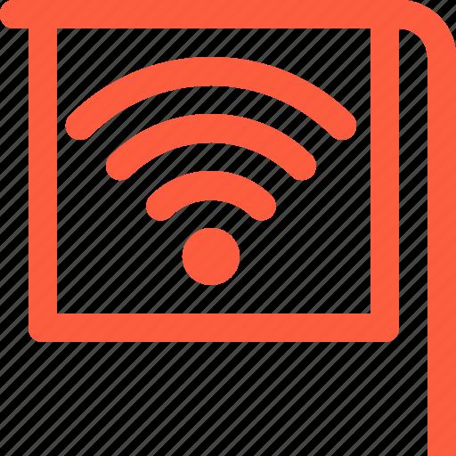 free, internet, point, sign, spot, wifi, wireless icon