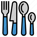 cutlery, food, fork, knife, restaurant, spoon, utensils icon