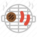 burger, cook, grill, party, sausage icon