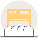 baking, bread, concept, cooking, food, kitchen, restaurant icon