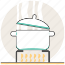 boil, boiled soup, concept, cooking, food, soup, warm icon