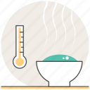 concept, cooking, food, reheating, thermometer icon
