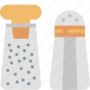 cooking, eating, kitchen, pepper, salt, seasoning, spice icon