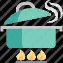 cooking, food, gastronomy, kitchen, pan, restaurant, stew icon