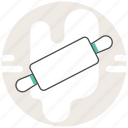 concept, cooking, flour, process, rolling pin, thresh, tool icon