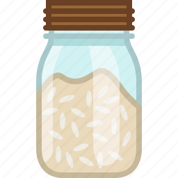 bottle, cooking, food, ingredient, kitchen, rice, yumminky icon