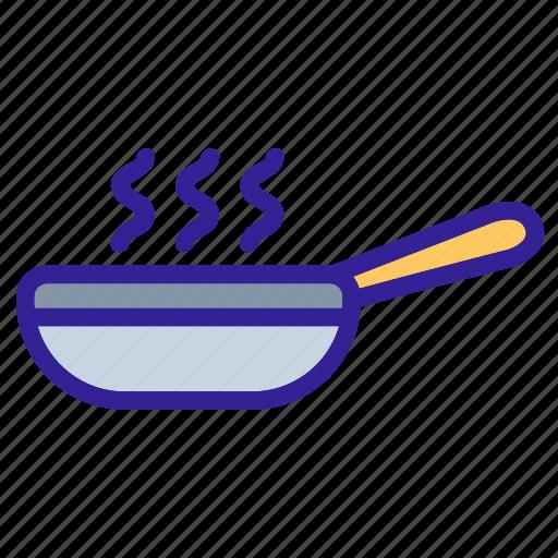 cooking, equipment, item, kitchen, pan icon