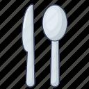 cutlery, kitchen, fork, knife
