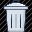 dustbin, trash, can