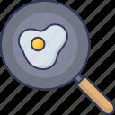 egg, frying, pan