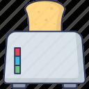 appliance, toaster, bread