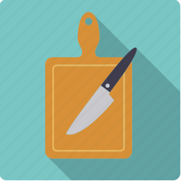 board, cooking, cutting, household, kitchen, knife, tools icon