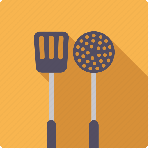 cooking, household, kitchen, ladle, spatula, tool, utensil icon