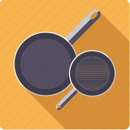 cooking, frying, household, kitchen, pans, pots, utensil icon