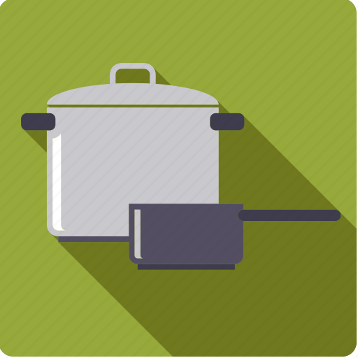 cooking, household, kitchen, pots icon