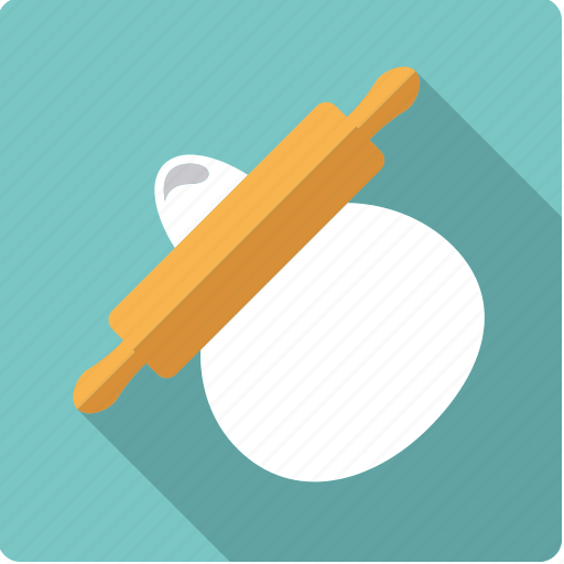 baking, cooking, dough, household, kitchen, pin, rolling icon